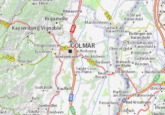 Mapa Plano Andolsheim