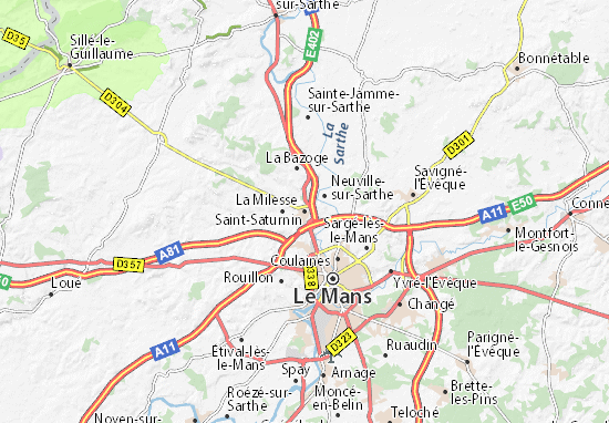 Carte-Plan Saint-Saturnin