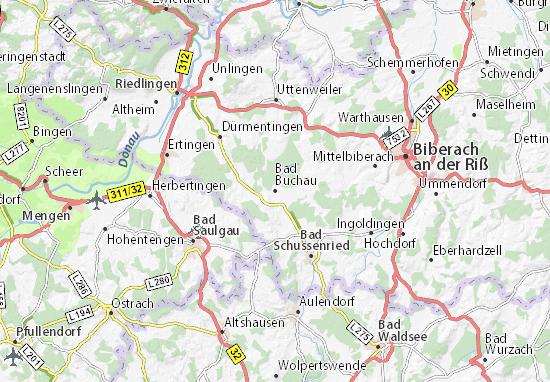 Bad Buchau Map