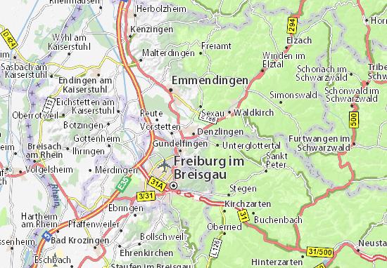 Karte Stadtplan Denzlingen
