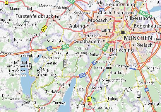 Karte Stadtplan Gauting