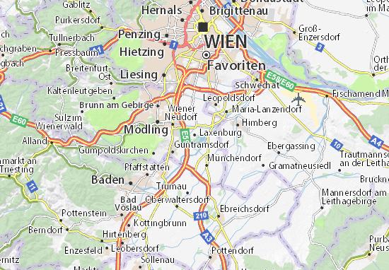 Karte Stadtplan Laxenburg