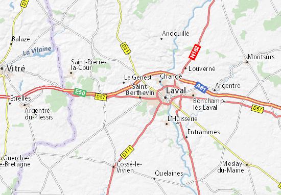 Carte-Plan Saint-Berthevin