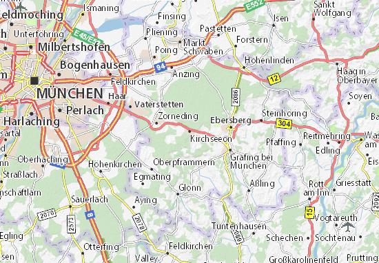 Karte Stadtplan Kirchseeon