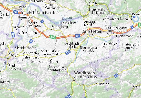 Kaart Plattegrond Aschbach-Markt