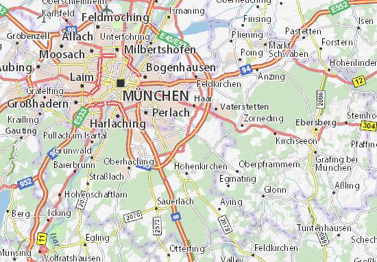 Kaart Plattegrond Putzbrunn