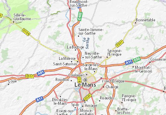 Carte-Plan Neuville-sur-Sarthe