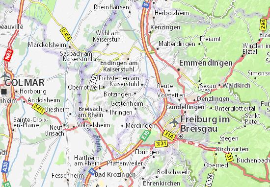 Karte Stadtplan Bötzingen