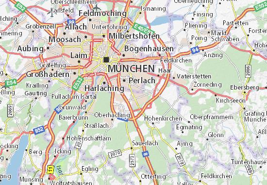Kaart Plattegrond Neubiberg