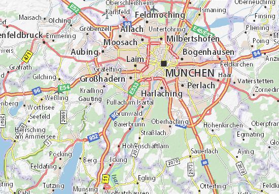Karte Stadtplan Solln Viamichelin