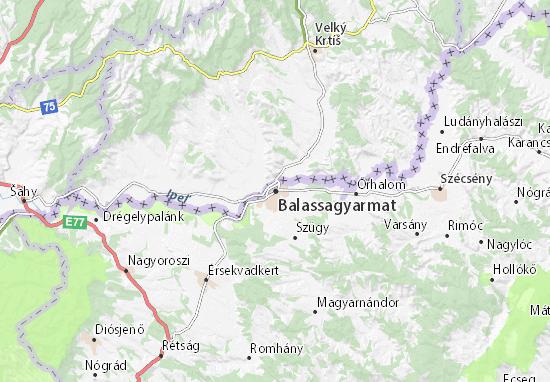 Mapa Plano Balassagyarmat