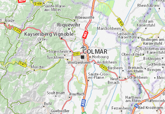 Carte-Plan Colmar