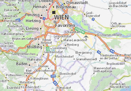Karte Stadtplan Himberg