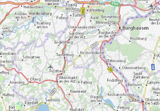 Kirchweidach Map