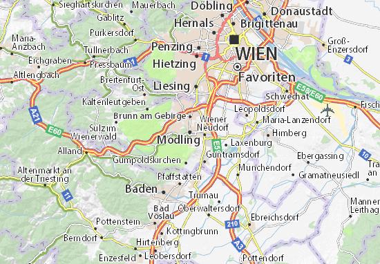 Karte Stadtplan Mödling
