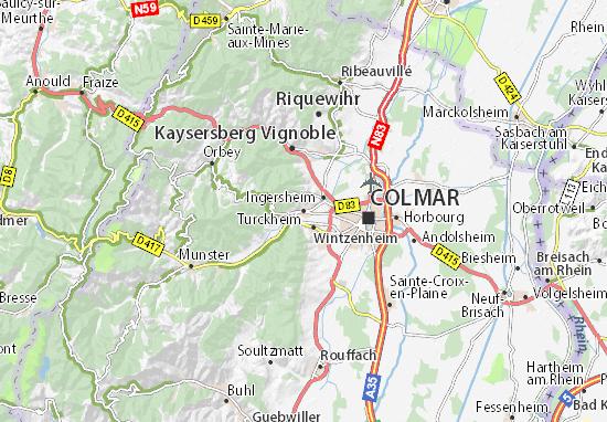Kaart Plattegrond Turckheim