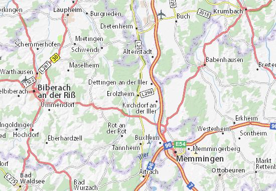 Erolzheim Map