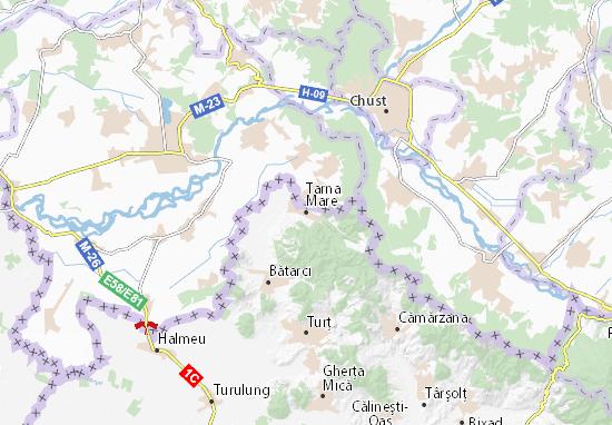 Kaart Plattegrond Tarna Mare