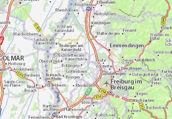 Kaart Plattegrond Eichstetten am Kaiserstuhl