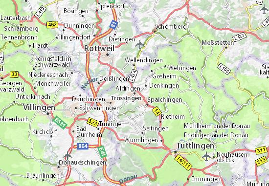 Karte Stadtplan Aldingen