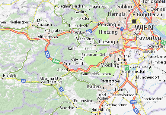 Karte Stadtplan Sulz im Wienerwald