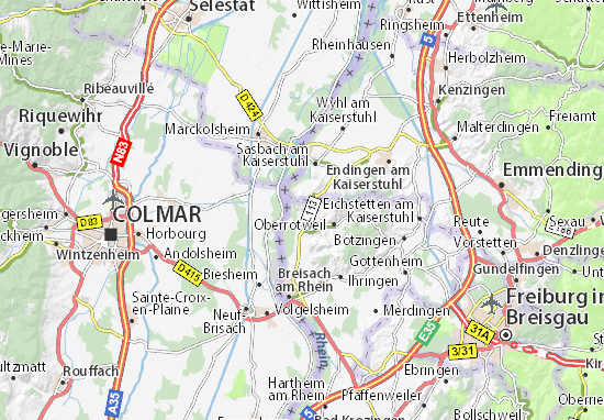 Breisach Germany Map.Burkheim Map Detailed Maps For The City Of Burkheim Viamichelin