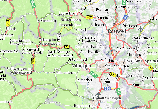 Carte-Plan Mönchweiler