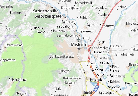 Mapa Miskolc
