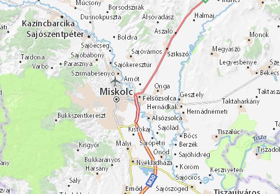 Mapa Felsőzsolca