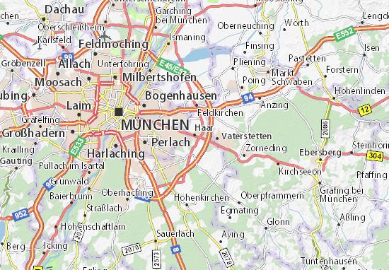 Karte München Stadtteile.Karte Stadtplan Haar Viamichelin