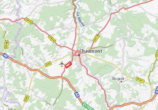 Carte-Plan Chaumont