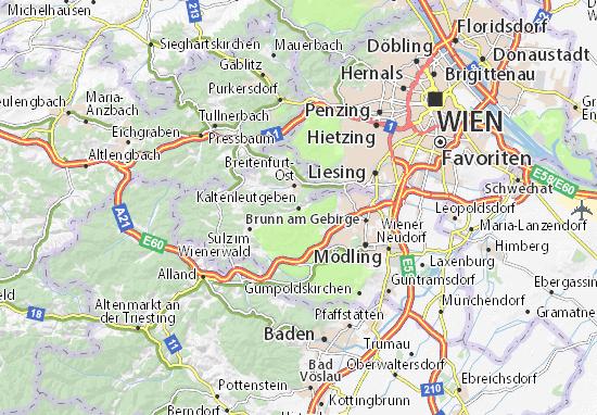 Karte Stadtplan Kaltenleutgeben