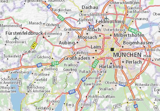 Karte Stadtplan Gräfelfing
