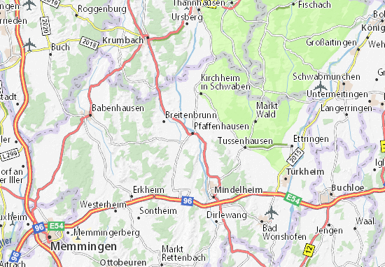 Karte Stadtplan Pfaffenhausen