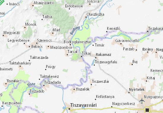 Mapa Tokaj