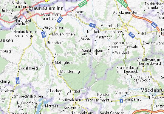 Carte-Plan Sankt Johann am Walde