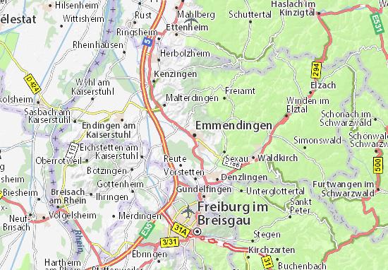 Karte Stadtplan Emmendingen
