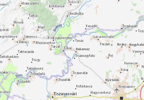 Mapa Rakamaz