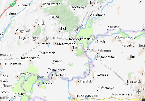 Mapa Tarcal
