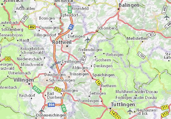 Karte Stadtplan Frittlingen