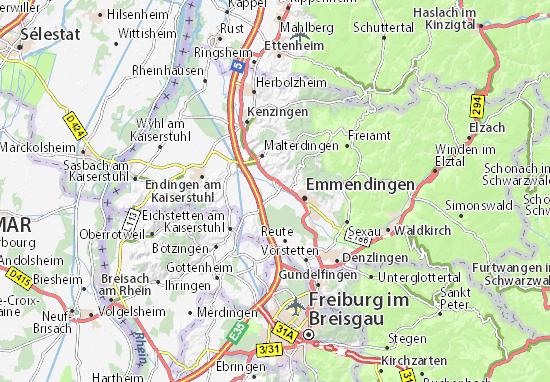 Karte Stadtplan Teningen