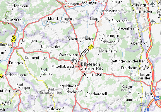 Warthausen Map