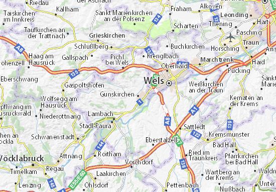 Kaart Plattegrond Gunskirchen
