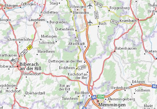 Kirchberg an der Iller Map