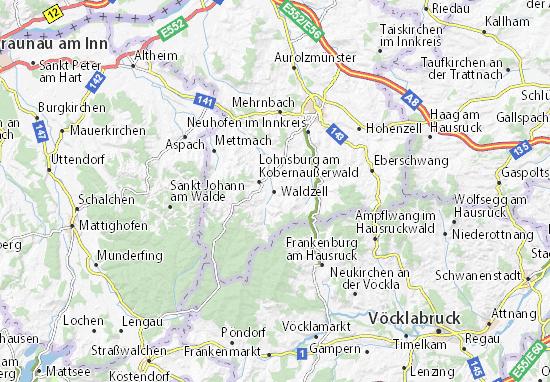 Kaart Plattegrond Waldzell