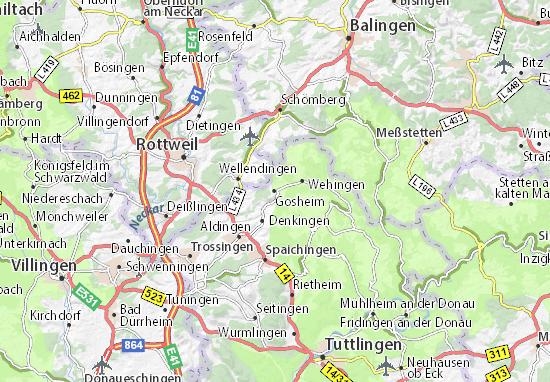 Karte Stadtplan Gosheim
