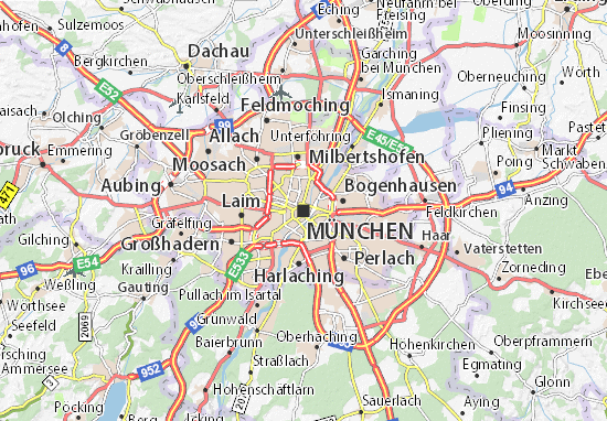 Map Of Munich Munich Map: Detailed maps for the city of Munich   ViaMichelin