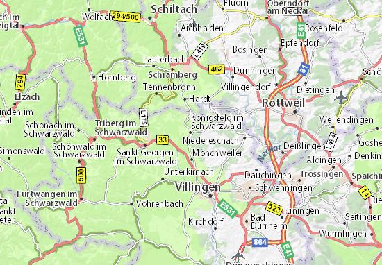 Mapa Plano Königsfeld im Schwarzwald