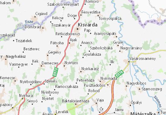 Gyulaháza Map