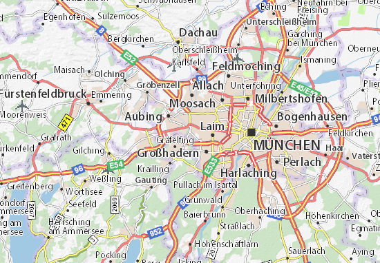Map Of Pasing Michelin Pasing Map Viamichelin